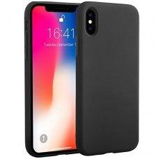 iphone x/xs dėklas silicone cover silikonas juodas