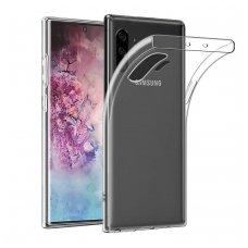 Samsung galaxy Note 10 DĖKLAS HIGH CLEAR 1,0MM SILIKONAS SKAIDRUS