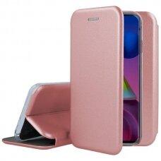 Samsung galaxy A03s atverčiamas dėklas Book elegance odinis rožinis