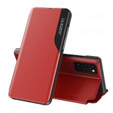 Samsung galaxy m51 atverčiamas dėklas SMART FLIP raudonas