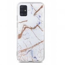 Samsung galaxy note 10 lite / a81 dėklas Marmur silikonas baltas