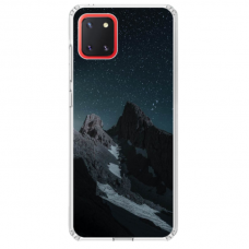 "Samsung Galaxy Note 10 Lite TPU dėklas unikaliu dizainu 1.0 mm ""u-case Airskin Mountains 1 design"""