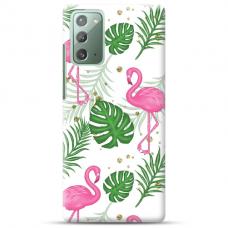 "Samsung Galaxy Note 20 TPU dėklas unikaliu dizainu 1.0 mm ""u-case Airskin Flamingos design"""