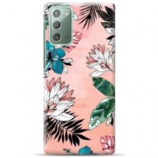 "Samsung Galaxy Note 20 TPU dėklas unikaliu dizainu 1.0 mm ""u-case Airskin Flowers 1 design"""