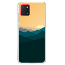 "Samsung Galaxy Note 10 Lite TPU dėklas unikaliu dizainu 1.0 mm ""u-case Airskin Mountains 2 design"""
