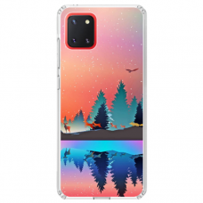 "Samsung Galaxy Note 10 Lite TPU dėklas unikaliu dizainu 1.0 mm ""u-case Airskin Nature 5 design"""