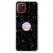 "Samsung Galaxy Note 10 Lite TPU dėklas unikaliu dizainu 1.0 mm ""u-case Airskin Planet design"""