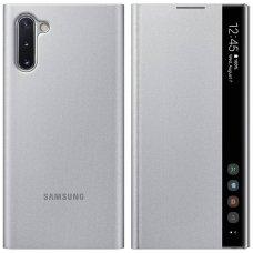 """Samsung Galaxy Note 10 originalus išmanus atverčiamas dėklas Clear View Standing Cover Intelligent Display"""" Sidabrinis"""
