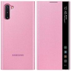 """Samsung Galaxy Note 10 originalus išmanus atverčiamas dėklas Clear View Standing Cover Intelligent Display"""" Rožinis"""