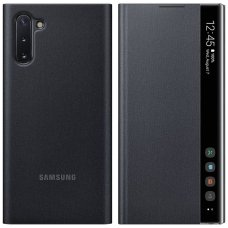 "Samsung Galaxy Note 10 Plus originalus išmanus atverčiamas dėklas Clear View Standing Cover Intelligent Display"" Juodas"