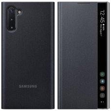 """Samsung Galaxy Note 10 originalus išmanus atverčiamas dėklas Clear View Standing Cover Intelligent Display"""" Juodas"""
