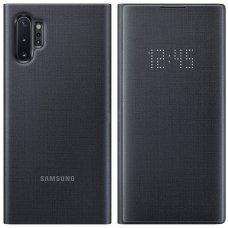 """Samsung Galaxy Note 10 PLUS originalus išmanus atverčiamas dėklas """"LED View Cover"""" Juodas"""