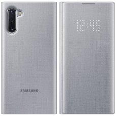 """Samsung Galaxy Note 10 originalus išmanus atverčiamas dėklas """"LED View Cover""""  Pilkas"""