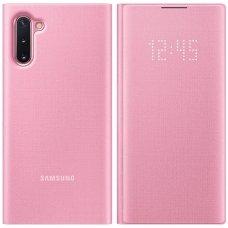"""Samsung Galaxy Note 10 originalus išmanus atverčiamas dėklas """"LED View Cover"""" rožinis"""