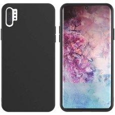 Samsung galaxy Note 10 plus dėklas MERCURY SILICONE juodas