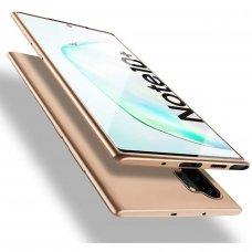 Akcija! Samsung galaxy note 10 plus dėklas X-LEVEL GUARDIAN silikonas auksinis