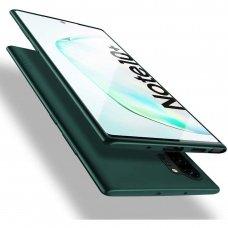 Samsung galaxy note 10 plus dėklas X-LEVEL GUARDIAN silikonas tamsiai žalias