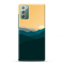 "Samsung Galaxy Note 20 TPU dėklas unikaliu dizainu 1.0 mm ""u-case Airskin Mountains 2 design"""