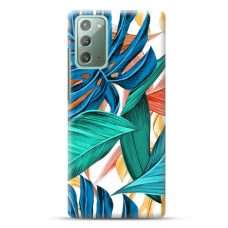 """Samsung Galaxy Note 20 TPU dėklas unikaliu dizainu 1.0 mm """"u-case Airskin Leaves design"""""""