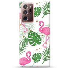 "Samsung Galaxy Note 20 Ultra TPU dėklas unikaliu dizainu 1.0 mm ""u-case Airskin Flamingos design"""