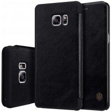 Samsung galaxy  NOTE 7 atverčiamas dėklas nillkin QIN tikros natūralios odos juodas