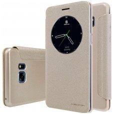 Samsung galaxy  NOTE 7 Atverčiamas dėklas Nillkin Sparkle PC plastikas ir PU oda auksinis
