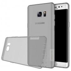 Samsung galaxy NOTE 7 dėklas Nillkin Nature permatomas pilkas 0,6 mm TPU