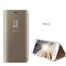 Samsung Galaxy NOTE 8 atverčiamas dėklas Clear View veidrodiniu-permatomu dangteliu auksinis