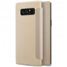 Samsung galaxy  NOTE 8 Atverčiamas dėklas Nillkin Sparkle PC plastikas ir PU oda auksinis