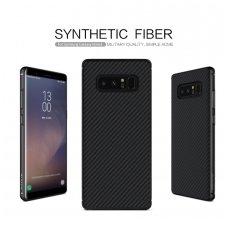 Samsung galaxy  NOTE 8 dėklas Nillkin synthetic carbon plastikas su ANGLIES PLUOŠTU juodas