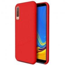 """Samsung Galaxy a7 2018 dėklas """"Liquid silicon""""  silikonas raudonas"""
