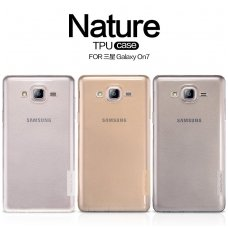 SAMSUNG GALAXY on7 DĖKLAS NILLKIN NATURE 0.6MM TPU SKAIDRUS