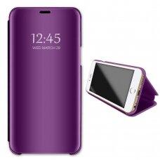 Akcija! Samsung galaxy s10 lite ATVERČIAMAS DĖKLAS CLEAR VIEW VEIDRODINIU-PERMATOMU DANGTELIU violetinis