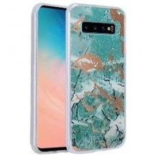 Samsung galaxy s10 dėklas Marmur silikonas žalias