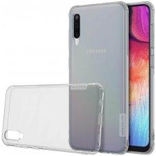 Samsung galaxy a70 dėklas Nillkin Nature TPU 0,6mm pilkas
