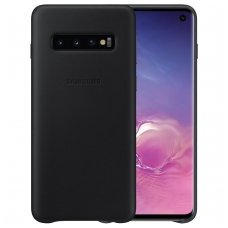 "Samsung Galaxy S10 plus originalus odinis dėklas ""Leather Cover"" juodas"
