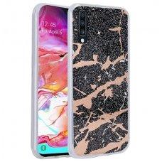 Samsung galaxy a70 dėklas Marmur silikonas juodas