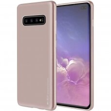 samsung galaxy s10 plus dėklas Mercury Jelly case silikonas auksinis