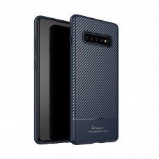 Samsung galaxy s10 plus DĖKLAS Ipaky Carbon Fiber TPU mėlynas