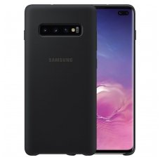"Samsung Galaxy S10 plus originalus gelinis dėklas ""Silicone Cover Flexible"" juodas"
