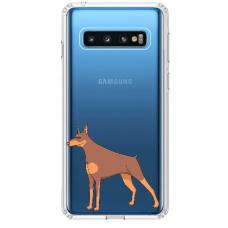 "Samsung Galaxy S10 TPU dėklas unikaliu dizainu 1.0 mm ""u-case Airskin Doggo 6 design"""