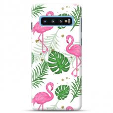 """Samsung Galaxy S10 TPU dėklas unikaliu dizainu 1.0 mm """"u-case Airskin Flamingos design"""""""