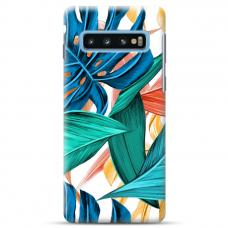 """Samsung Galaxy S10 TPU dėklas unikaliu dizainu 1.0 mm """"u-case Airskin Leaves 1 design"""""""