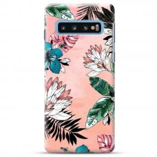 "Samsung Galaxy S10e TPU dėklas unikaliu dizainu 1.0 mm ""u-case Airskin Flowers 1 design"""
