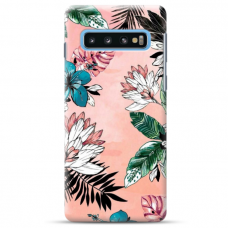 "Samsung Galaxy S10 TPU dėklas unikaliu dizainu 1.0 mm ""u-case Airskin Flowers 1 design"""