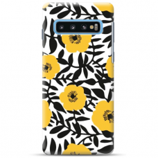 "Samsung Galaxy S10e TPU dėklas unikaliu dizainu 1.0 mm ""u-case Airskin Flowers 2 design"""