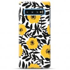 "Samsung Galaxy S10 TPU dėklas unikaliu dizainu 1.0 mm ""u-case Airskin Flowers 2 design"""