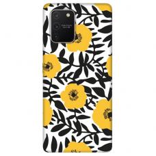"Samsung Galaxy S10 lite TPU dėklas unikaliu dizainu 1.0 mm ""u-case Airskin Flowers 2 design"""