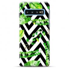 """Samsung Galaxy S10 TPU dėklas unikaliu dizainu 1.0 mm """"u-case Airskin Leaves 2 design"""""""