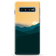 "Samsung Galaxy S10 TPU dėklas unikaliu dizainu 1.0 mm ""u-case Airskin Mountains 2 design"""